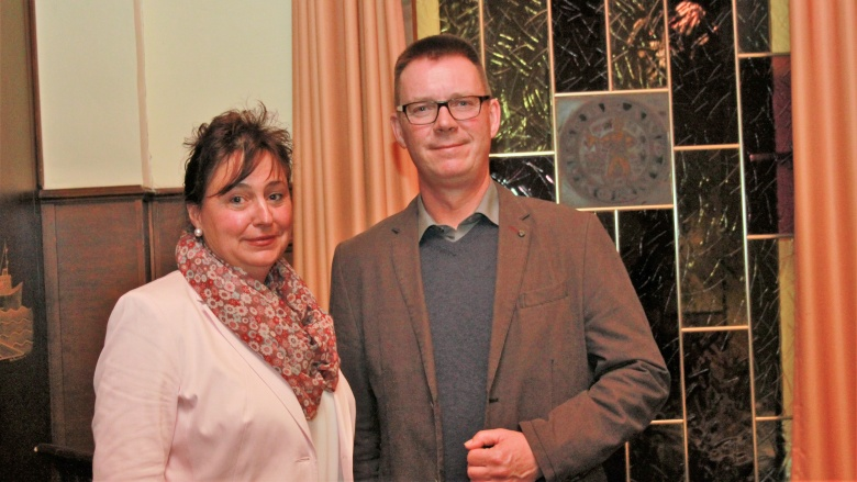 Andreas Augstein Ortsvorsitzender mit seiner Stellvertreterin Karen Tomkowitz-Ahrens